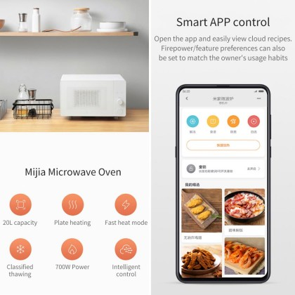 Xiaomi Mijia Smart Microwave App Control 20L Capasity Rapid Heating Stove Microwave Oven
