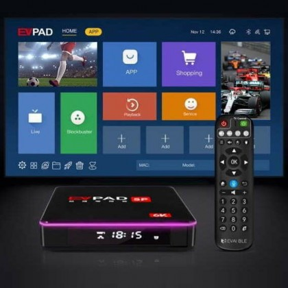 EVPAD 5P 4+32GB Smart WiFi TV Android Box TVBOX 【PRE-Installed Live Channel】