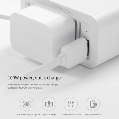 Xiaomi Smartmi USB Car Inverter Charger 12V to 220V [Charge Laptop, Smartphones, Tablets, any electronic devices]