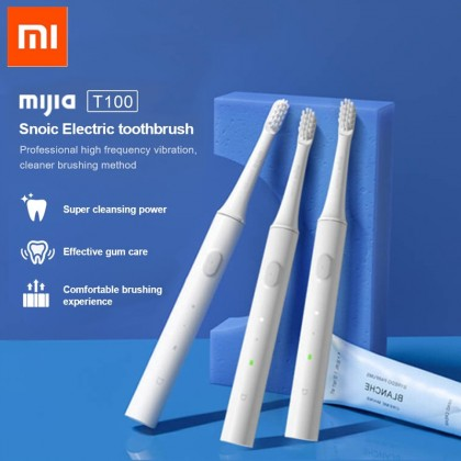 Xiaomi Mijia T100 USB Rechargeable Sonic Electric Toothbrush MES603 IPX7 Waterproof  [White / Blue / Pink]