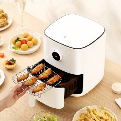 【NEW】Xiaomi Smart Electric Air Fryer 3.5L Mijia APP Control OLED Display 【White】