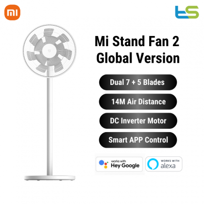 Xiaomi Mi Smart Standing Fan 2 / 2 Lite DC Pedestal Standing Portable Stand Fan Works with Mijia/Alexa & Google Global